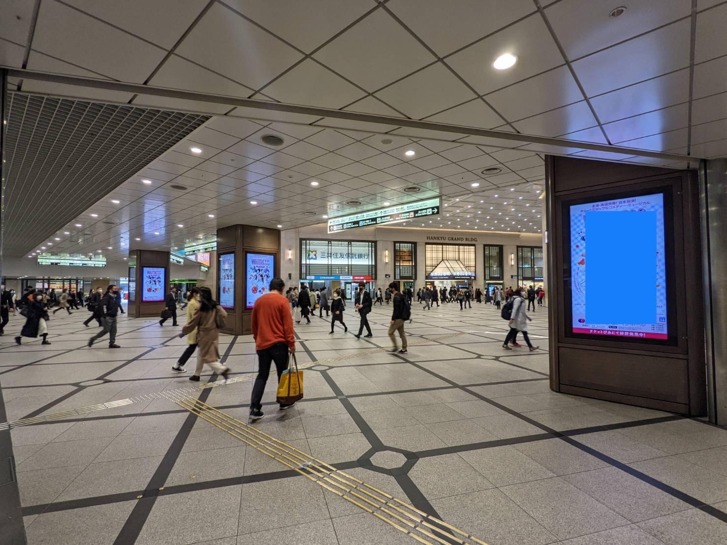 阪急デジタルサイネージ百貨店前 ジャック広告